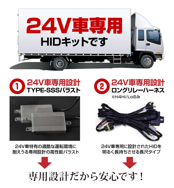24V車専用 55W HIDキット
