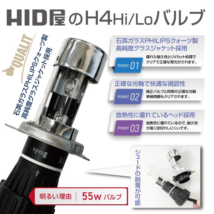HID屋 H4HiLoバルブの品質