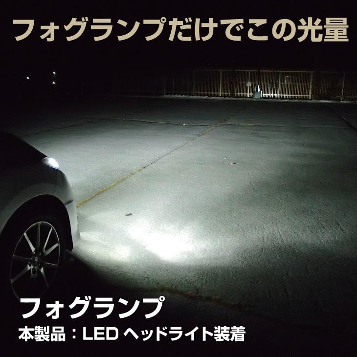 LEDヘッドライトをフォグランプ使用