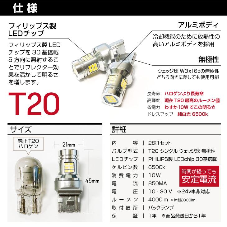 T20 LED バックランプ 仕様