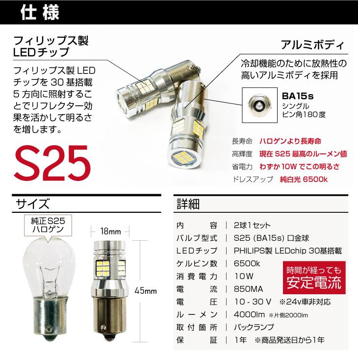 S25 LED バックランプ 仕様