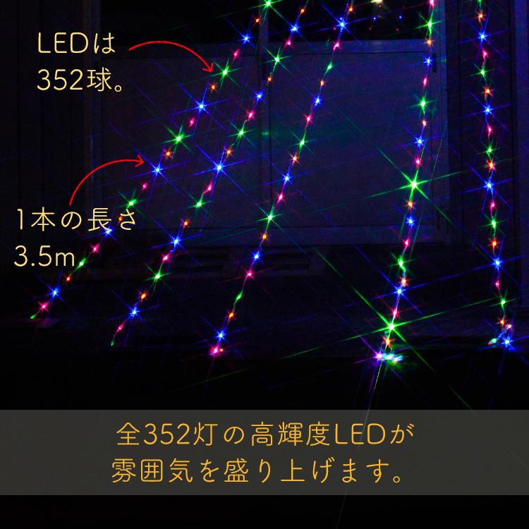 イルミネーション ナイアガラ LED ドレープライト ネットライト ガーデンライト カーテンライト クリスマス ツリー すだれ 滝