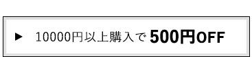 10000円以上購入で500円OFF