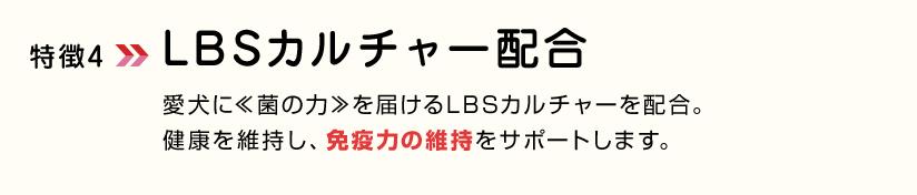 特徴4LBSカルチャー配合