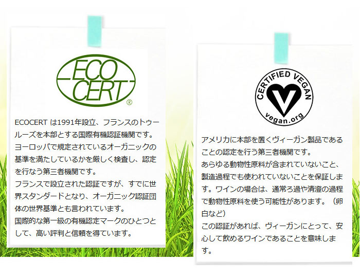 ECOCERT とVegan Action
