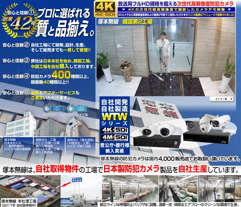 防犯カメラ 日本製 ワイヤレス 無線 屋外 長距離 追跡 追尾 最新 追っかけカメラ  塚本無線