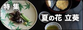 夏の花・立葵|和食器コーディネイト