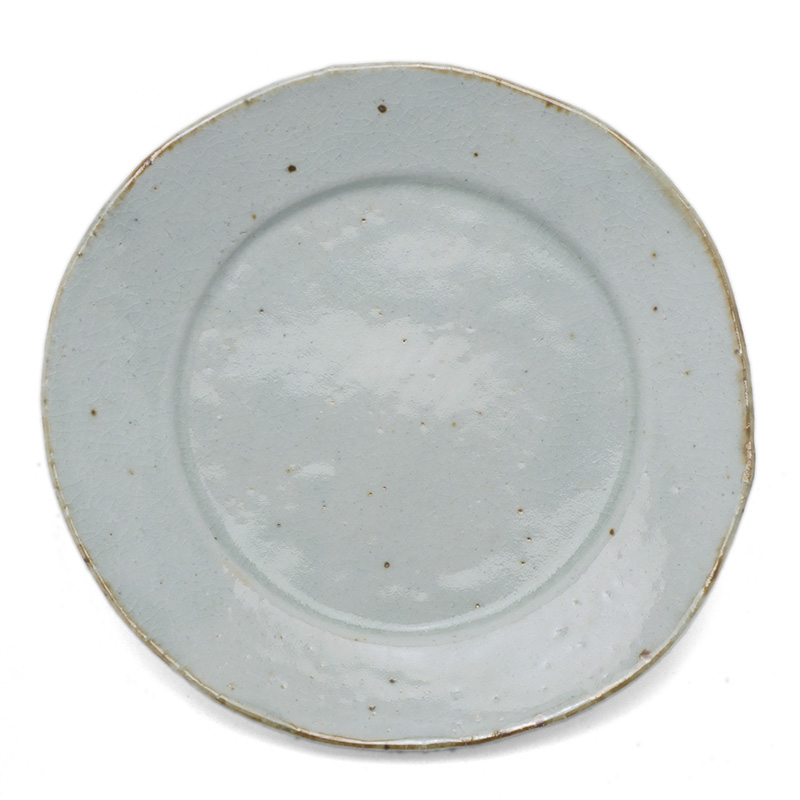 伊賀焼:瀬戸焼:銹絵5.5寸◎皿・鍔広・有松進