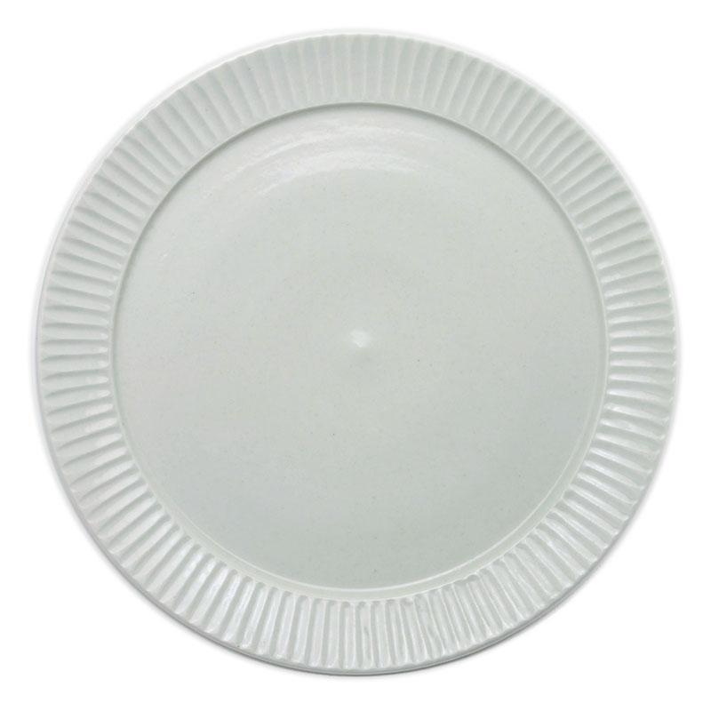白磁縞リム5.5寸皿・阿部春弥