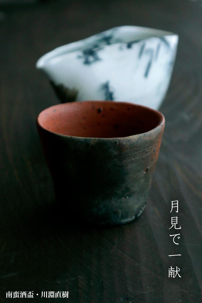 焼締め:南蛮酒盃g9406・川淵直樹