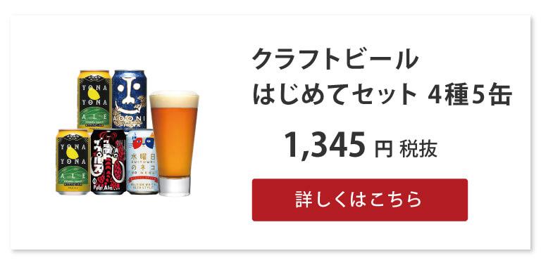 クラフトビールはじめてセット 4種6缶