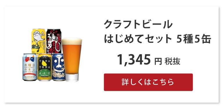 クラフトビールはじめてセット 5種5缶
