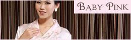 花刺繍前開きパジャマ:ベビーピンク