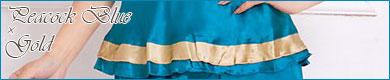 オリエンタルフラワーパジャマ:レディース・ブルー