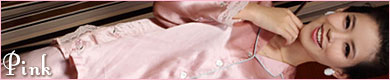 花刺繍レースパジャマ:レディース・ピンク