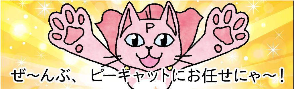 ぜ〜んぶ、ピーキャットにお任せにゃ〜!