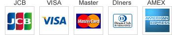 JCB、VISA、Master、Diners、AMEXのマーク画像