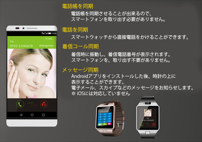 ¿��ǽ��� Bluetooth3.0 ���ޡ��� �����å� �ӻ��� �ϥե���� ����Ģ��ǽ �֤�˺������ �忮�Τ餻 ��⥳�Ƶ�ǽ Ͽ�� sim������ Android ���� ��GV08S