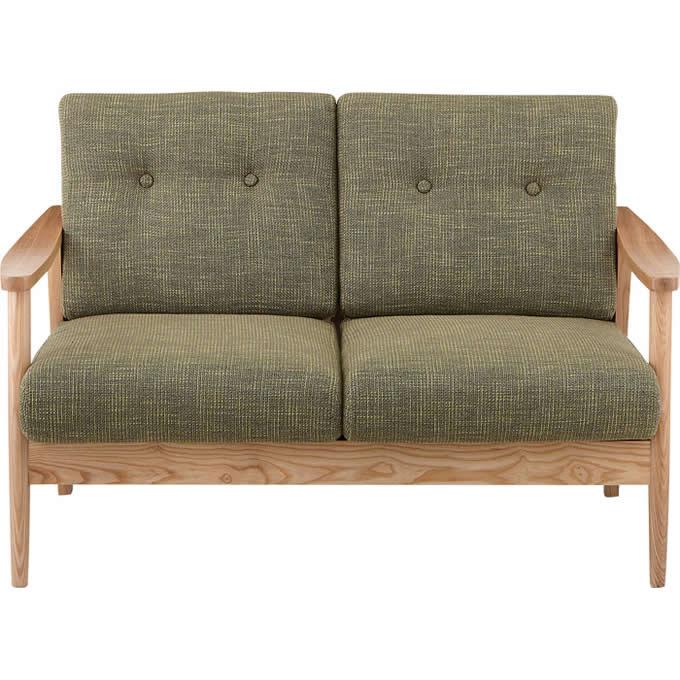 木目の美しいソファ