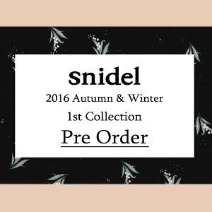 snidel 16秋冬