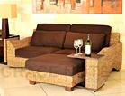 【送料無料】◆売筋商品◆ウォーターヒヤシンスを贅沢に使った3人掛けソファー(波型)