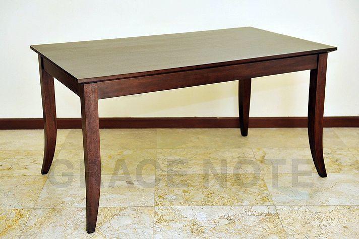 マホガニー材のダイニングテーブル dt-02