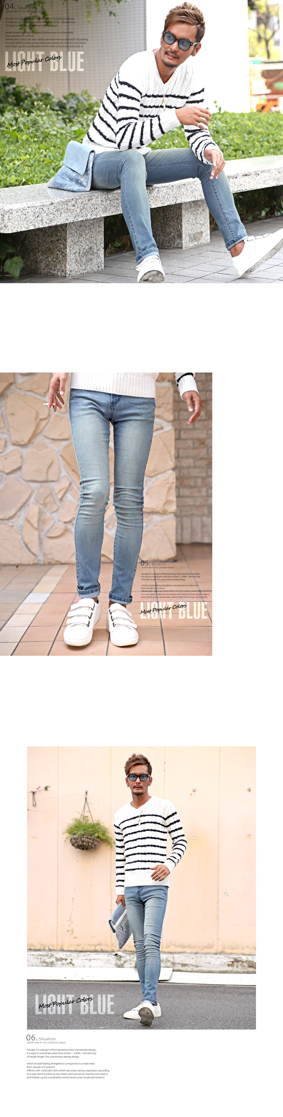 スキニーデニム メンズ ジーンズ ジーパン スキニーパンツ ストレッチデニム スリム 細身 美脚 タイト フィット カジュアル ビター系 BITTER お兄系 ファッション 服 通販 ボトムス 3