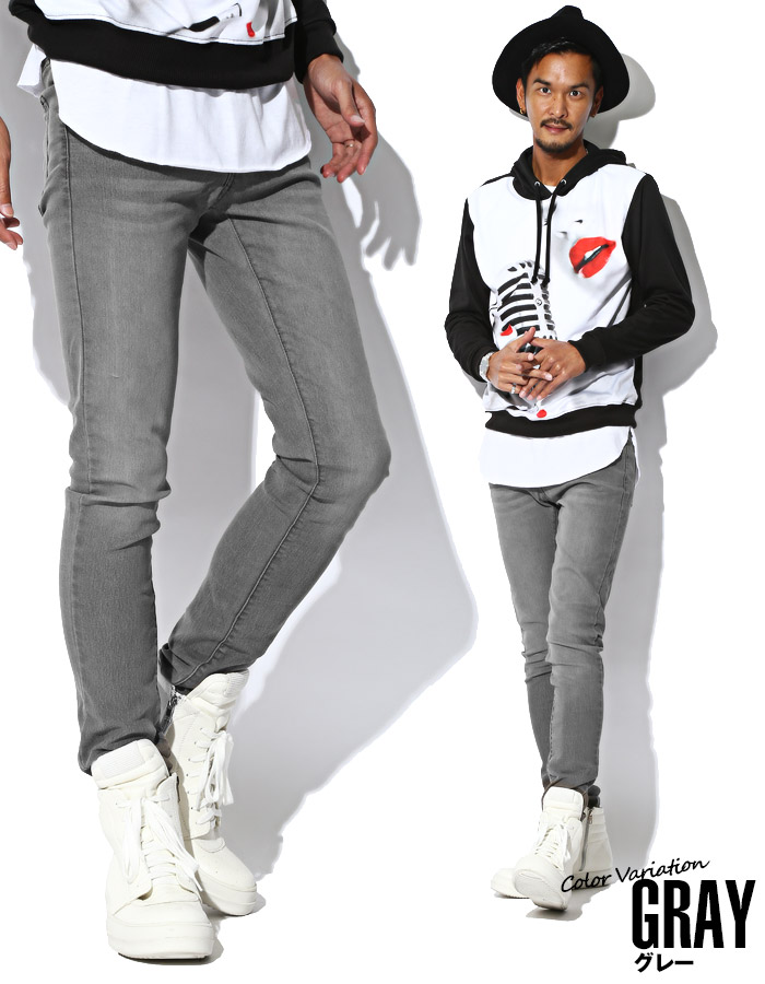 スキニーデニム メンズ ジーンズ ジーパン スキニーパンツ ストレッチデニム スリム 細身 美脚 タイト フィット カジュアル ビター系 BITTER お兄系 ファッション 服 通販 ボトムス 11