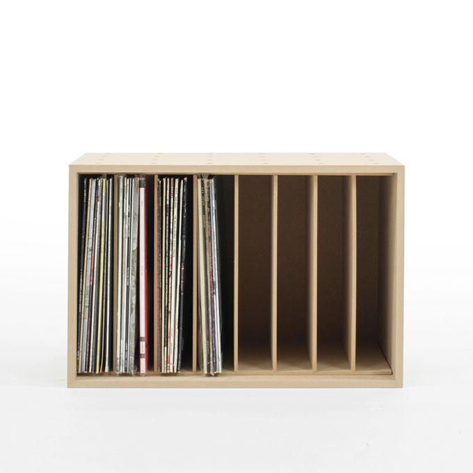 LPレコード収納ボックス 仕切り付き