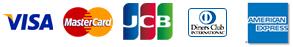 クレジットカードの種類(JCB・VISA・MASTER・AMEX・DINERS)