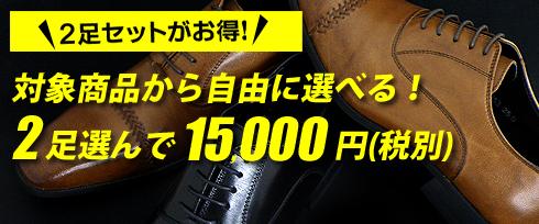 対象商品から自由に選べる!2足選んで15,000円(税込 16,200円)
