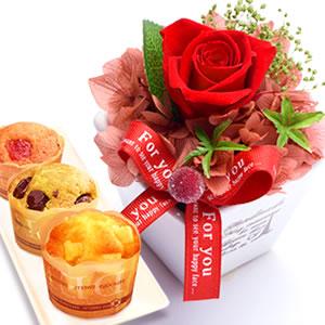 母の日 2016 薔薇プリザーブドフラワーエッフェル(赤)