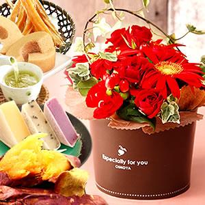 母の日 2016 花とスイーツセットB(花束)