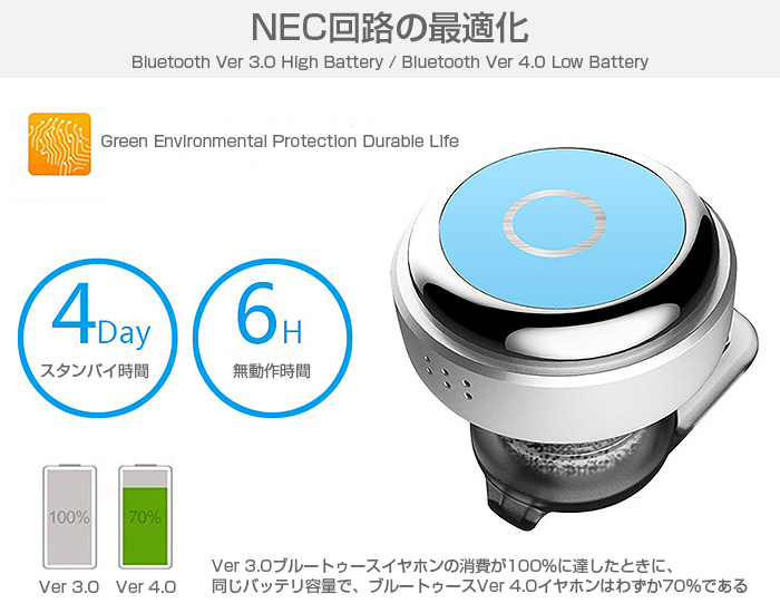 超ミニイヤホン 耳栓タイプ マイク ハンズフリー Bluetooth 4.0 CSR4.0 イヤホン ヘッドセット ワイヤレス イヤホンヘッドホン HIFIオーディオ 内蔵マイク ◇blue-o300