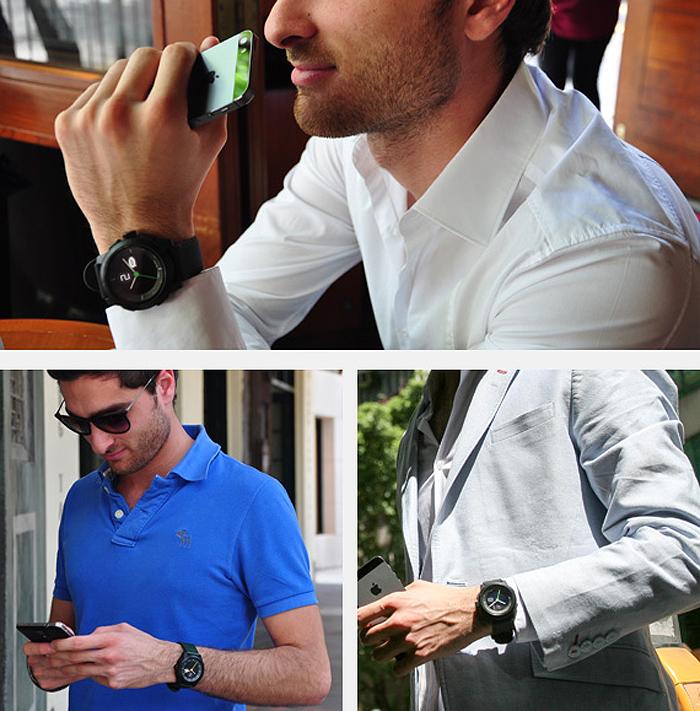 cookoo connected watch Bluetooth 4.0 スマートウォッチ コネクテッド ウォッチ 多機能時計 スマホ連動 iPhone6 アナログ 腕時計 ◇COOKOO-2