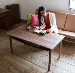 ノード カフェテーブル ウォルナット