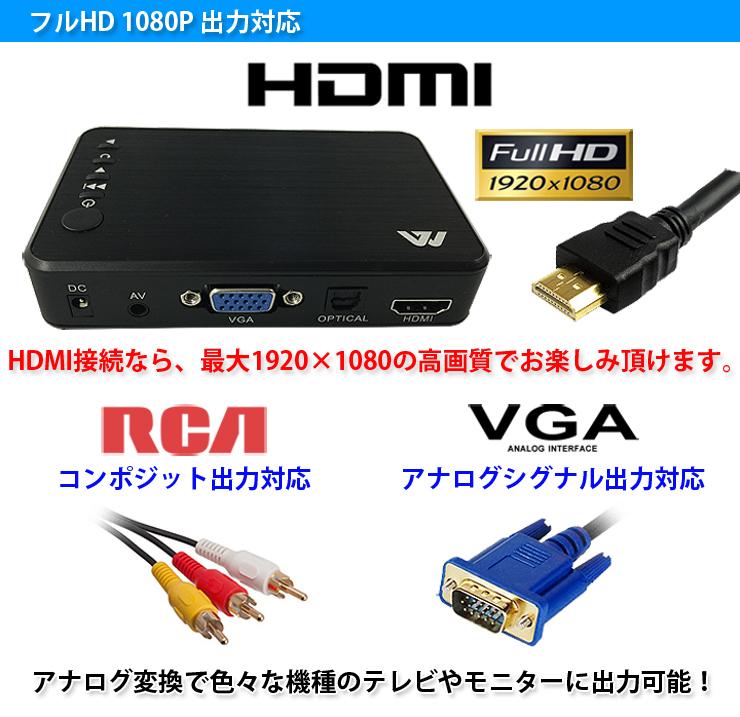 ����ѥ��� ��ǥ����ץ졼�䡼 ���������ư�衢���ں�����1080P�ե�HD�б� PCư��ʤɥƥ�Ӥ��˥����Ǻ��� HDMI �ݡ����֥��ǥ����ץ졼�䡼 ��HDMP400