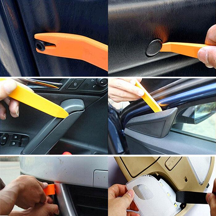 自動車内張りはがし ハンディリムーバー 12点セット オーディオ インパネ 内張り外し 内装はがし 脱着 工具 バルク品 コンソールパネル ◇REMOVER