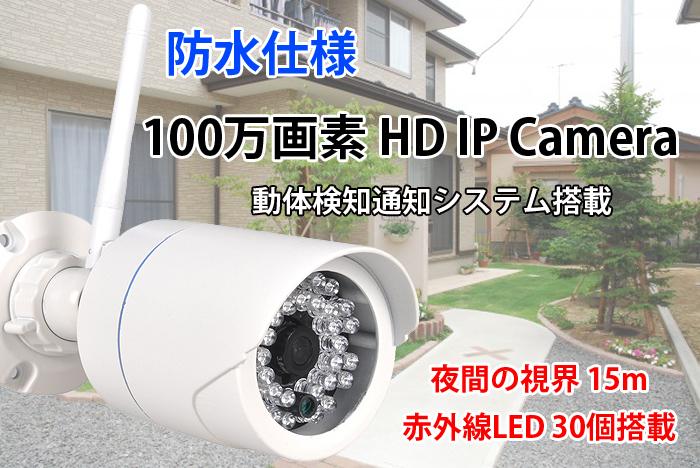 100����� HD �ɿ� IP Camera iOS Android�б� �ͥåȥ��������ֳ���LED 30����� ��֤λ볦��15m ���ȥ���� ����