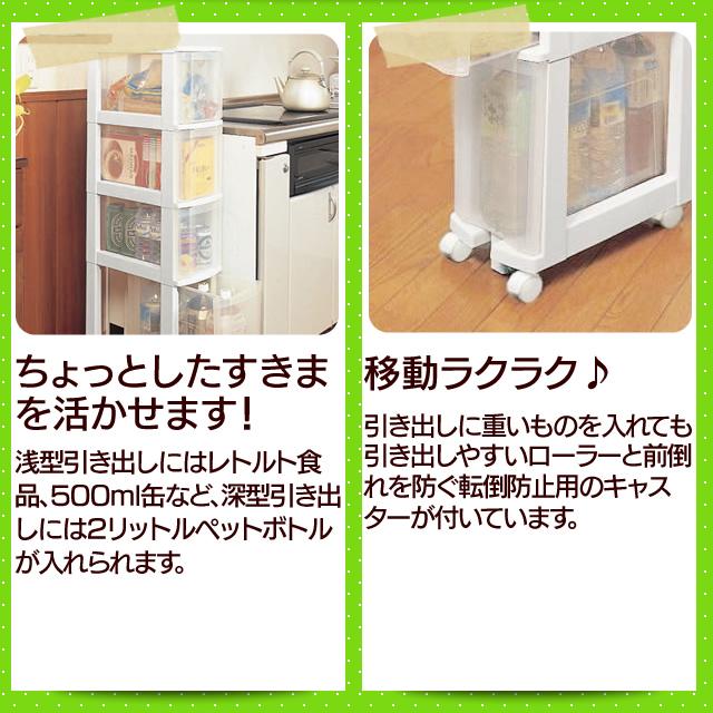 キッチンチェスト031 ホワイト/クリア