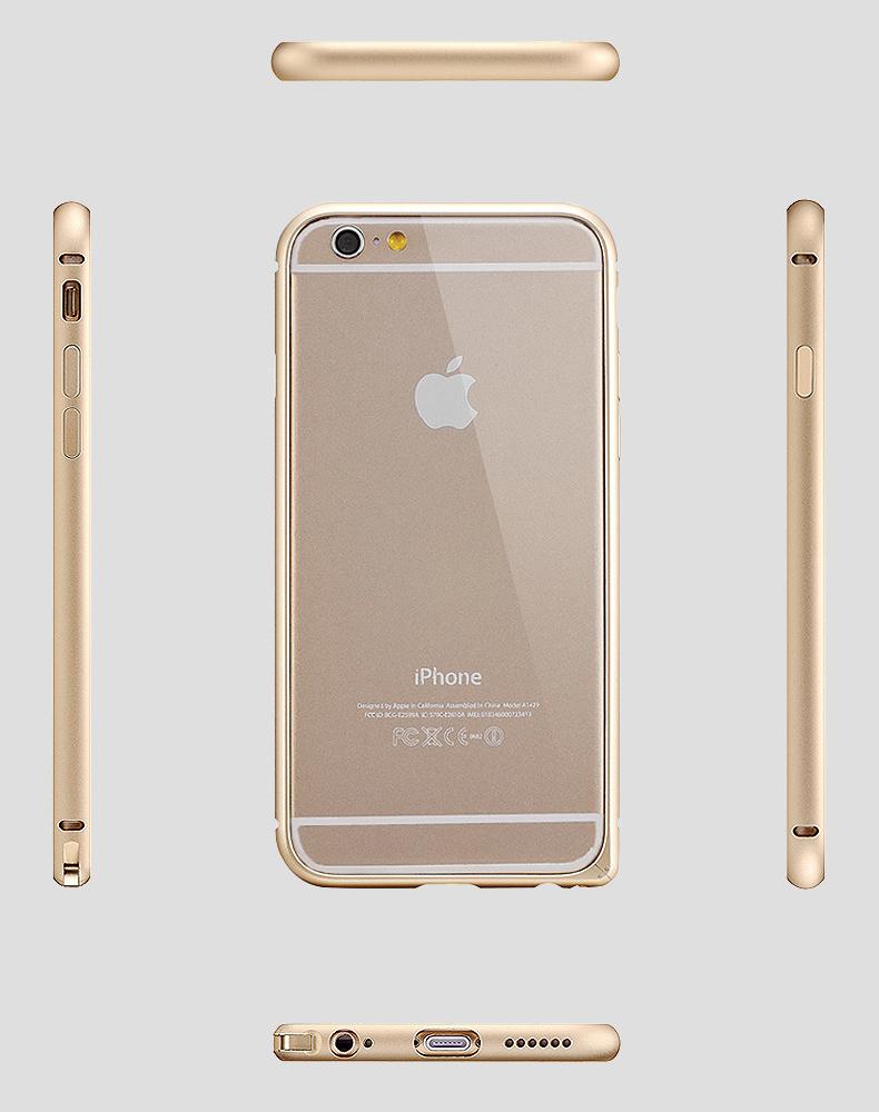 iPhone6 Plus(5.5インチ)アルミバンパー 軽量アルミ製メタルバンパー 取り付け簡単