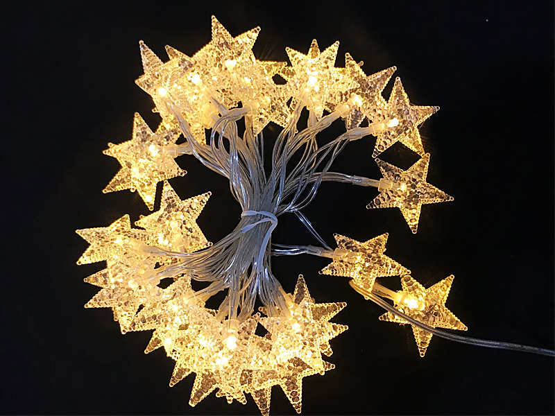 LEDイルミネーション 星 スター 3m 30球 ストレートライト 電池式 防雨 クリスマス ライト 電飾 飾り