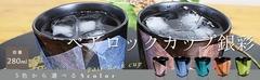 【九谷焼】【陶らいふ限定商品】5色から選べるペアロックカップ タンブラー 銀彩/宗秀窯